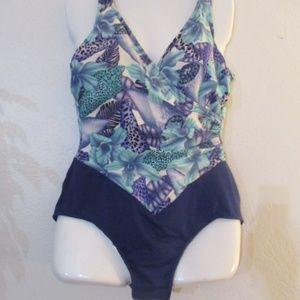 Bubble Butt Swim Shaper ILGWU bathing suit